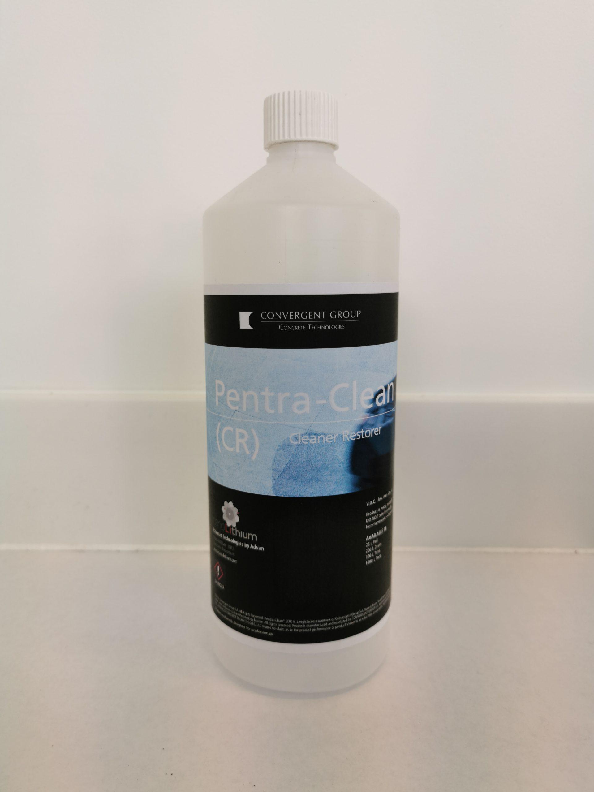 bottole of Pentra Clean Cleaner Restorer